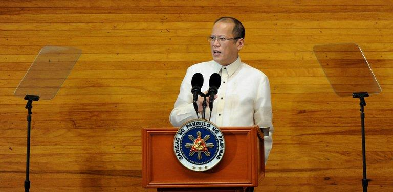 Philippine President Benigno Aquino speaks before the annual joint session of Congress in Manila on July 22, 2013