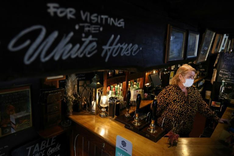 "Jacqueline Paphitis, landlady of the White Horse pub, says the virus has been ""absolutely devastating"""