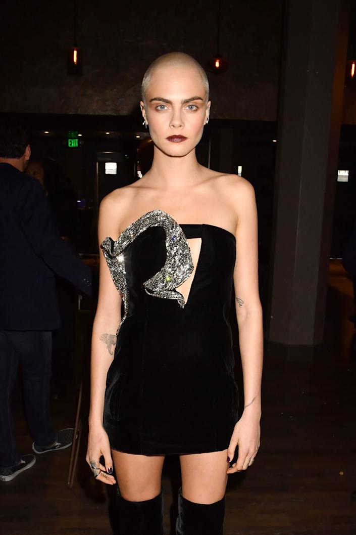 Actor Cara Delevingne attends the 2017 MTV Movie And TV Awards at The Shrine Auditorium on May 7, 2017 in Los Angeles, California.