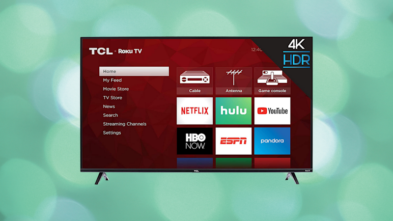 Save $100 on this TCL 43-inch 4K Ultra HD Smart Roku LED TV. (Photo: TCL)