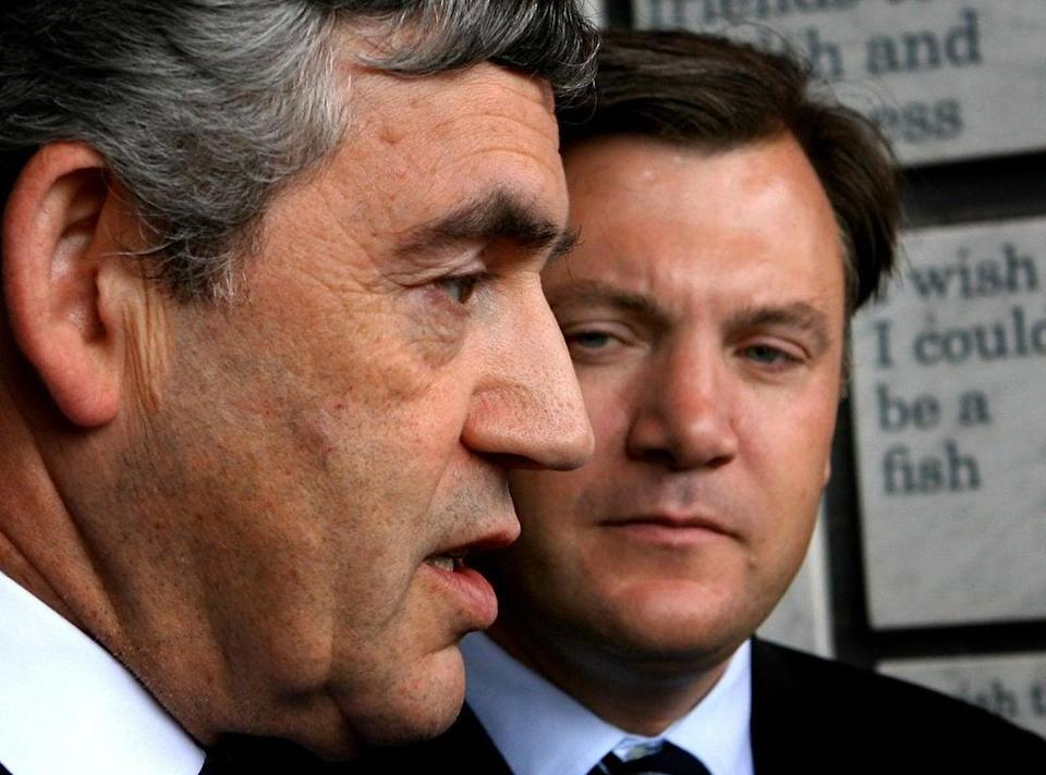 Ed Balls, then Secretary of State for Children, Schools and Families (right) with then Prime Minister Gordon Brown in 2007 (Anthony Devlin/PA)