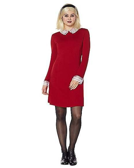 """<p>Beware! If you dress up in this <a href=""""https://www.popsugar.com/buy/Adult-Sabrina-Spellman-Costume-475218?p_name=Adult%20Sabrina%20Spellman%20Costume&retailer=spirithalloween.com&pid=475218&price=40&evar1=savvy%3Aus&evar9=46449394&evar98=https%3A%2F%2Fwww.popsugar.com%2Fphoto-gallery%2F46449394%2Fimage%2F46450505%2FAdult-Sabrina-Spellman-Costume&list1=halloween%2Challoween%20costumes&prop13=api&pdata=1"""" rel=""""nofollow"""" data-shoppable-link=""""1"""" target=""""_blank"""" class=""""ga-track"""" data-ga-category=""""Related"""" data-ga-label=""""https://www.spirithalloween.com/product/halloween-costumes/womens-costumes/view-all-womens-costumes/adult-sabrina-spellman-costume-archie/pc/4742/c/1326/sc/4254/178160.uts"""" data-ga-action=""""In-Line Links"""">Adult Sabrina Spellman Costume</a> ($40), you might end up going on a chilling adventure.</p>"""