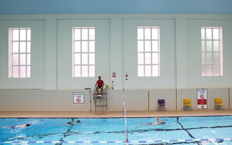 Swimmers at Ironmonger Row Baths and Better Leisure Centres as indoor gyms - PA