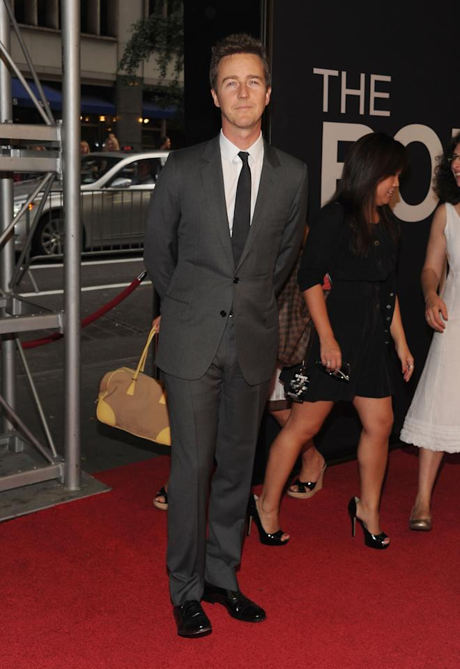 """NEW YORK, NY - JULY 30:  Edward Norton attends """"The Bourne Legacy"""" New York Premiere at Ziegfeld Theater on July 30, 2012 in New York City.  (Photo by Larry Busacca/Getty Images)"""