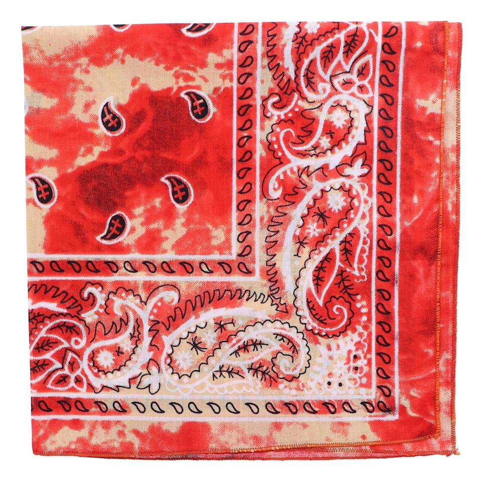 """<br><br><strong>Motique Accessories</strong> Tie Dye Paisley Bandana, $, available at <a href=""""https://amzn.to/34h46L5"""" rel=""""nofollow noopener"""" target=""""_blank"""" data-ylk=""""slk:Amazon"""" class=""""link rapid-noclick-resp"""">Amazon</a>"""