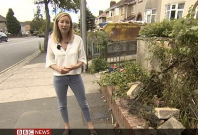 Pictured is Fiona Lamdin during the broadcast. Source: BBC