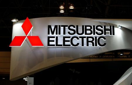 A logo of Mitsubishi Electric Corp is pictured at the CEATEC JAPAN 2017 (Combined Exhibition of Advanced Technologies) at the Makuhari Messe in Chiba, Japan, October 2, 2017.   REUTERS/Toru Hanai/Files