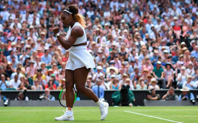 Williams has taken the first set on Centre Court - AFP