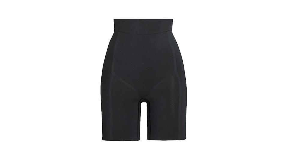 Contour Bonded high-rise stretch-woven shorts