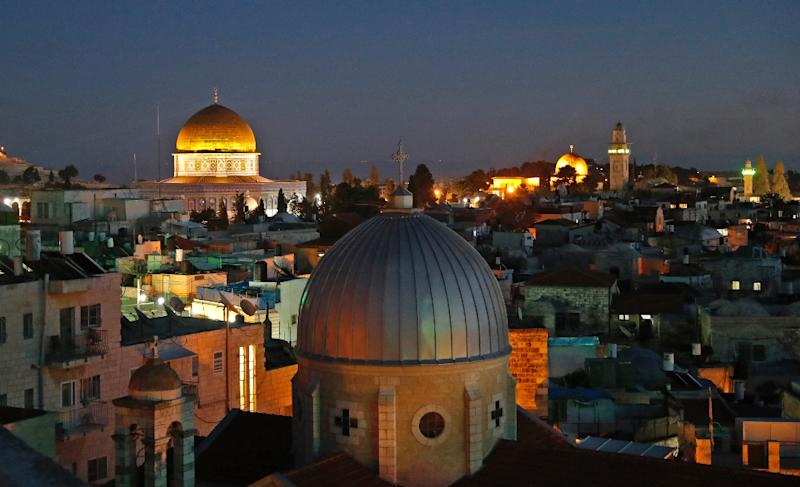 The skyline of the old city of Jerusalem