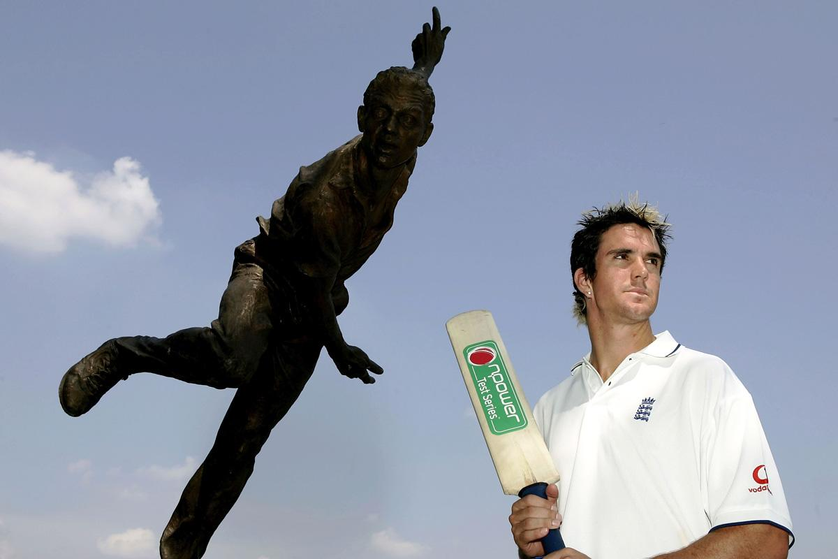 Pietersen of England poses at an England press conference where he was revealed to be in the England team that will face Australia in the First Ashes npower Test Match between England and Australia at Lord's on July 14, 2005 in London. (Photo by Paul Gilham/Getty Images) *** Local Caption *** Kevin Pietersen