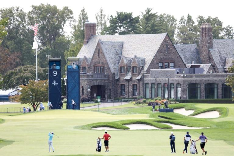 Northern Ireland's Rory McIlroy plays a practice round at Winged Foot on the eve of the 120th US Open golf championship