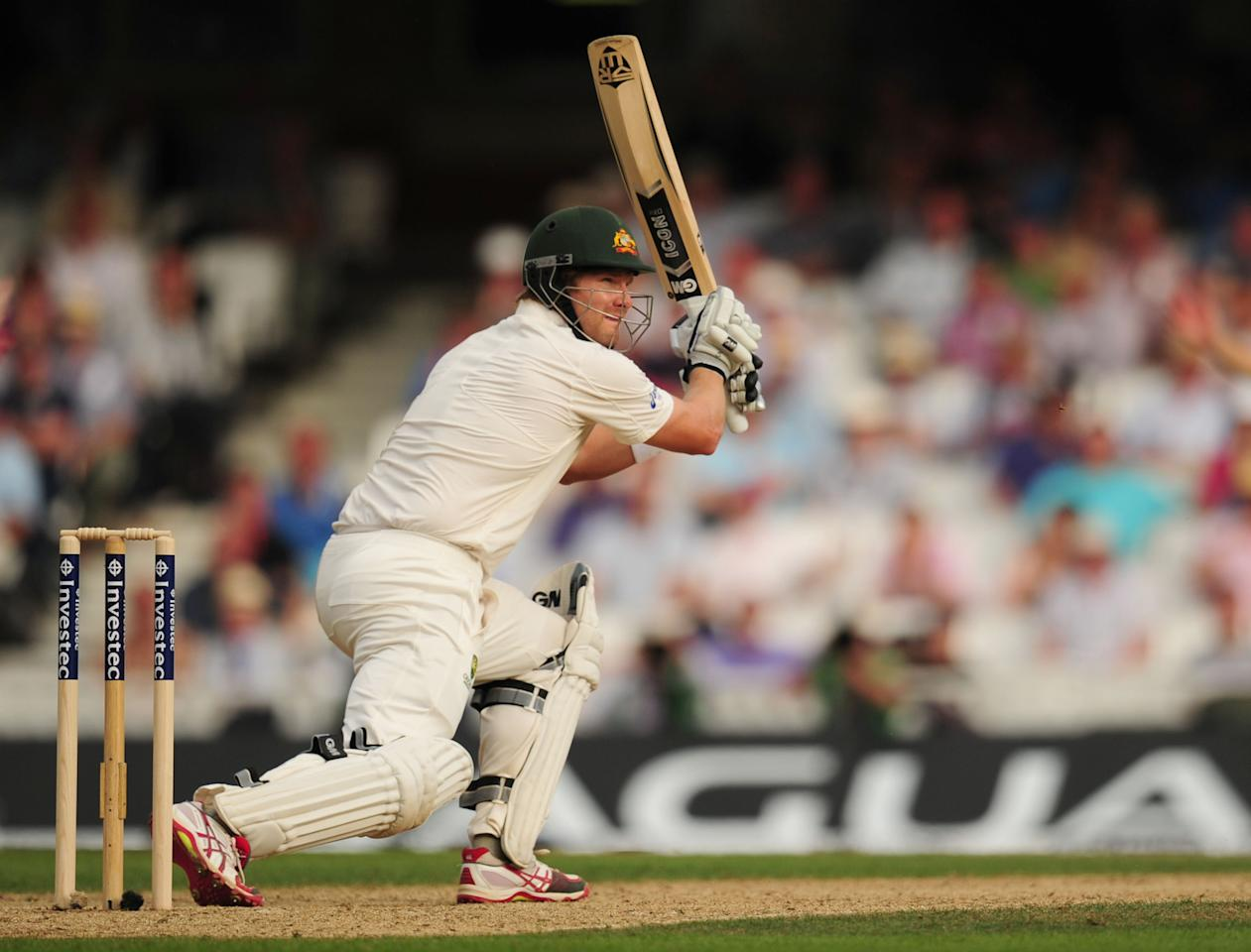 Australia's Shane Watson in action during day one of the Fifth Investec Ashes Test match at The Kia Oval, London.