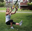 <p>The ultimate in minimalist gym gear, the <span>TRX Home Gym Suspension System</span> ($185, originally $200) sets up in less than 60 seconds and can be anchored almost anywhere - even a doorway or a tree. The purchase includes a one-year subscription to an app with over 80 workouts using the system . . . so you'll never get bored and never have an excuse.</p>