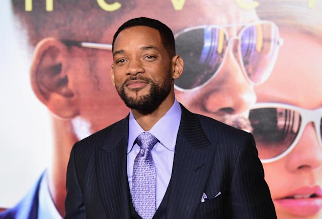 Will Smith at the premiere of his film  <em>Focus</em> on Feb. 24, 2015, in Hollywood. (Photo: Getty Images)