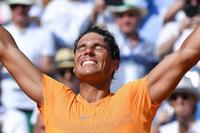 Rafael Nadal eased to an 11th Monte Carlo title by swatting aside Kei Nishikori (AFP Photo/Yann COATSALIOU)