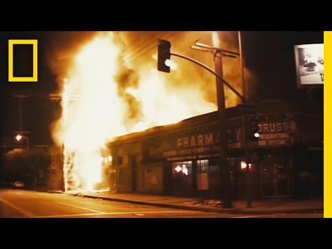 """<p>In 1992, four police officers were acquitted after violently beating Black construction worker Rodney King. <em>LA 92 </em>tells the story of the riots that broke out in LA following the notorious trial. </p><p><a href=""""https://www.youtube.com/watch?v=DcFuY_lPwh8"""" rel=""""nofollow noopener"""" target=""""_blank"""" data-ylk=""""slk:See the original post on Youtube"""" class=""""link rapid-noclick-resp"""">See the original post on Youtube</a></p>"""