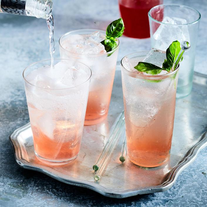<p>A shrub is a fruit syrup made with vinegar, and it's been used for centuries to preserve seasonal fruit. You can make a refreshing cocktail with it, as we do here, or try a splash in a glass of seltzer to make your own craft soda.</p>
