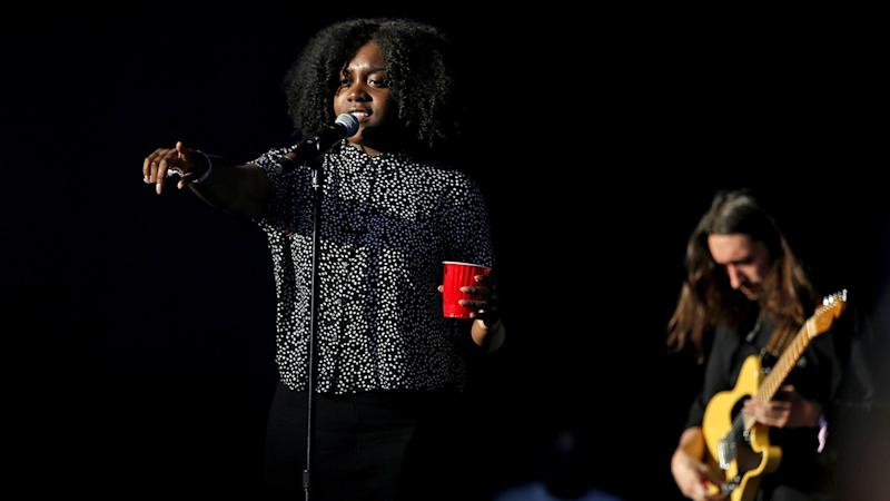 Rapper Noname performing at L.A.'s FYF Fest in 2017.