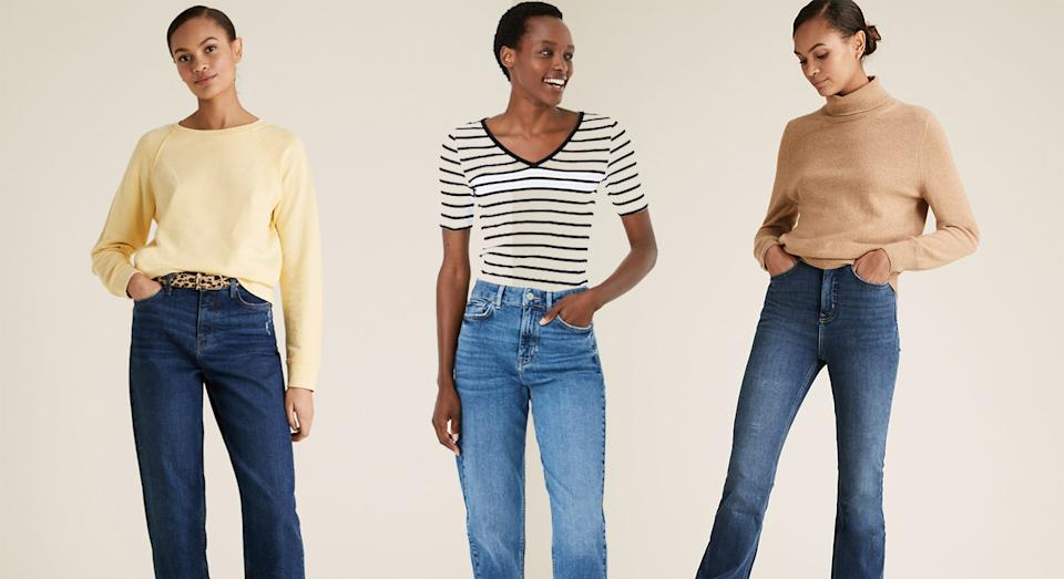 Sales for womenswear jeans from Marks and Spencer has soared by over 100% - and there are some new styles you need to know.  (Getty Images)