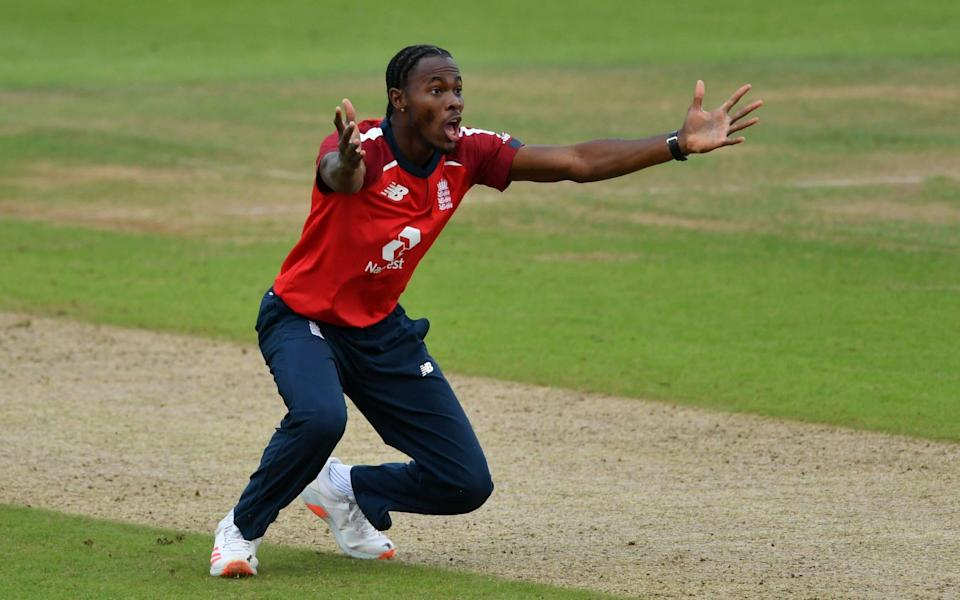 Jofra Archer in action for England - POOL VIA REUTERS