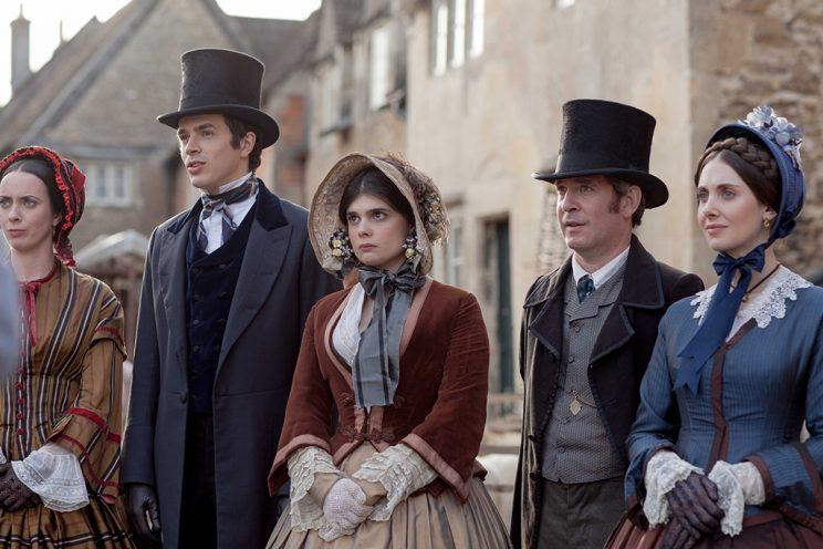 Harry Richardson, Gwynett Keyworth, Tom Hollander and Alison Brie in 'Doctor Thorne' (Photo: ©ITV/Amazon / Courtesy: Everett Collection)