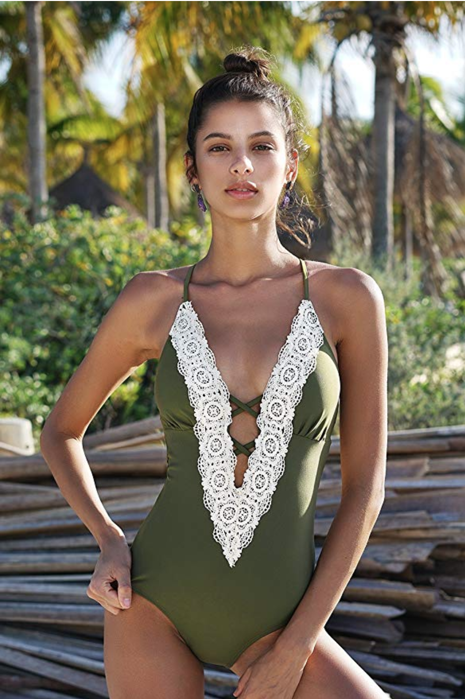 """<strong><em>Cupshe Vintage Lace Bathing Suit<br></em></strong><br>""""To say I love this suit is an understatement!!! It's amazing!!!!"""" declared a reviewer. (Exclamation points were <em>not</em> edited for clarity.) """"[It's] sexy, but not trashy,"""" said another. A chorus of over 1,000 customers praised the flattering, tummy-controlling properties of this bohemian maillot. At less than $30, we're sold.<br><br><strong>Cupshe</strong> Vintage Lace Bathing Suit, $, available at <a href=""""https://www.amazon.com/CUPSHE-Womens-Vintage-Swimwear-Bathing/dp/B073B3935Q/ref=sr_1_4?"""" rel=""""nofollow noopener"""" target=""""_blank"""" data-ylk=""""slk:Amazon"""" class=""""link rapid-noclick-resp"""">Amazon</a>"""