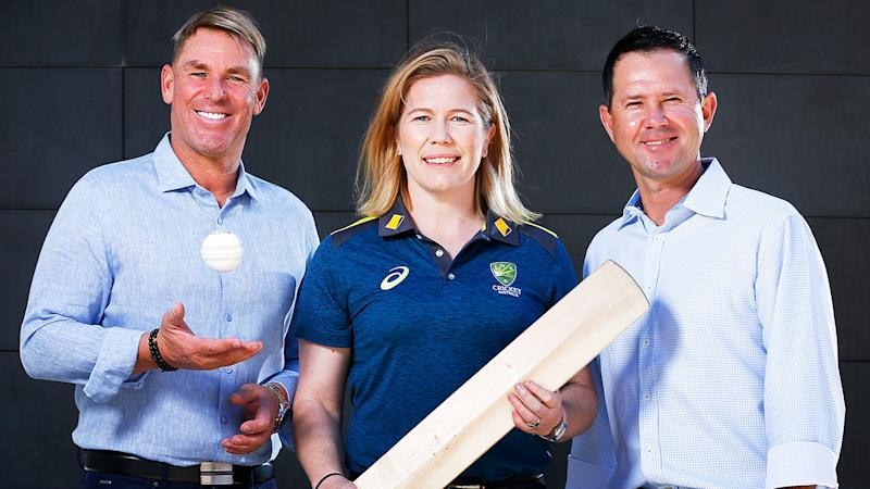 Seen here, Shane Warne, Alex Blackwell and Ricky Ponting were all slated to take part in the Bushfire Bash.