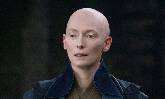 """<p><em>Doctor Strange </em>had a lot of <a href=""""https://www.indiewire.com/2016/11/tilda-swinton-doctor-strange-whitewashing-controversy-ghost-in-the-shell-1201742228/"""" rel=""""nofollow noopener"""" target=""""_blank"""" data-ylk=""""slk:controversy"""" class=""""link rapid-noclick-resp"""">controversy</a> around its casting choices. However, no one could deny Tilda Swinton's dedication to the role when she actually shaved her head in real life to play Ancient One. <br></p>"""