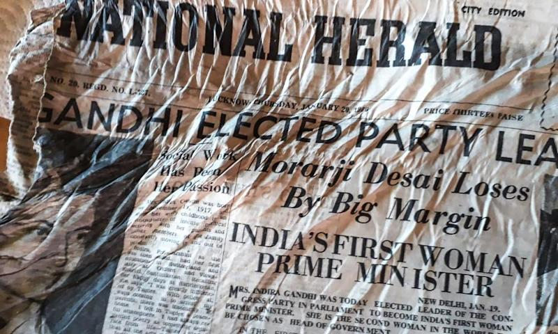 One of the 1966 newspapers found at the Bossons glacier near Chamonix in the French Alps.
