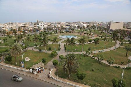 A view of the Red Sea port city of Hodeidah, Yemen