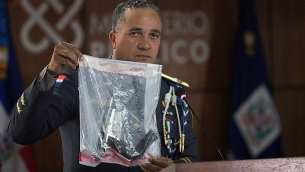 PHOTO: Director of the Dominican National Police Ney Aldrin Bautista Almonte shows the gun that was used to shoot the David Ortiz, during a press conference in Santo Domingo, Dominican Republic, June 12, 2019. (Orlando Barria/EPA via Shutterstock)