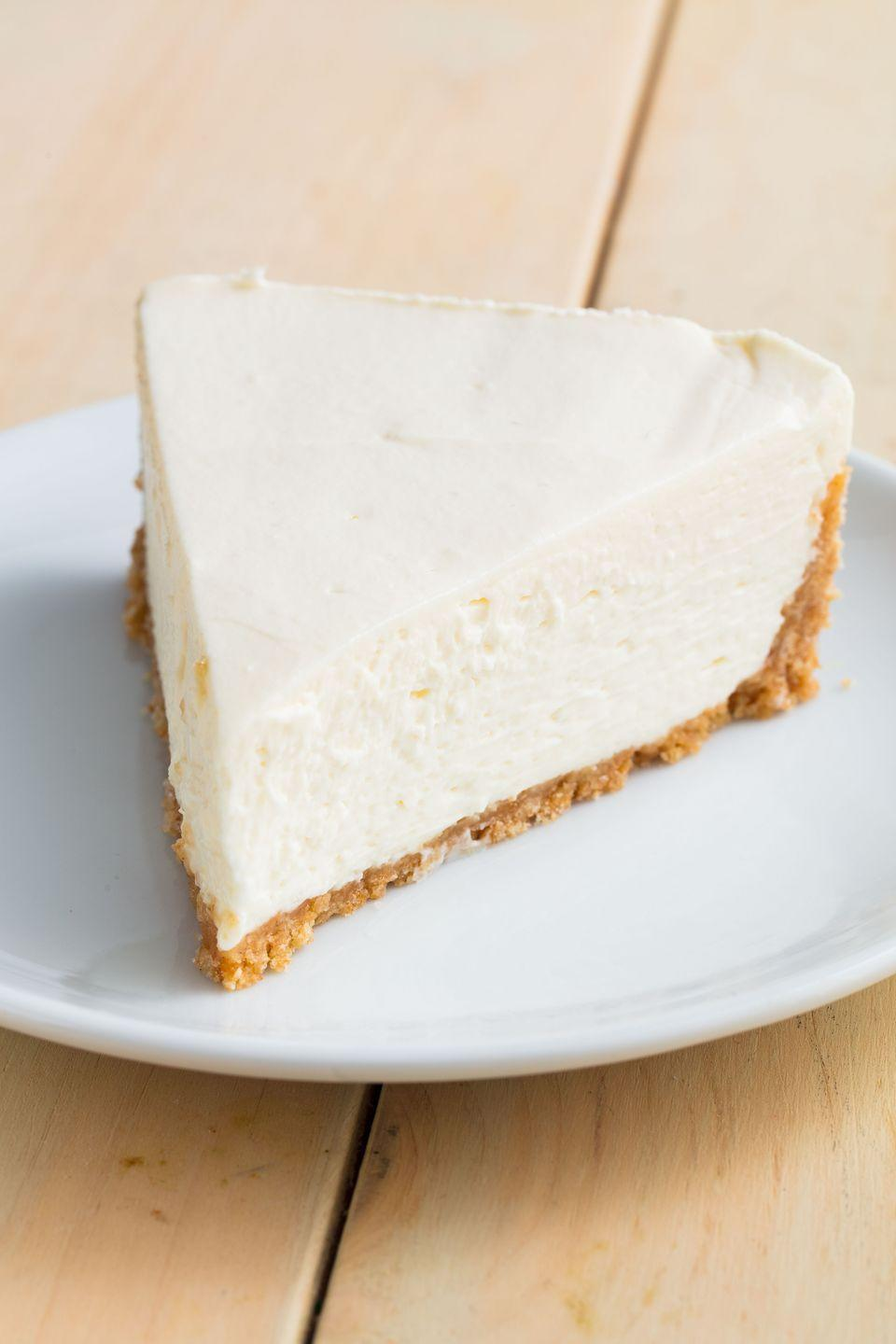 """<p>Takes all the stress of baking a cheesecake away. </p><p>Get the recipe from <a href=""""https://www.delish.com/cooking/recipe-ideas/a20087805/easy-no-bake-cheesecake-recipe/"""" rel=""""nofollow noopener"""" target=""""_blank"""" data-ylk=""""slk:Delish"""" class=""""link rapid-noclick-resp"""">Delish</a>. </p>"""