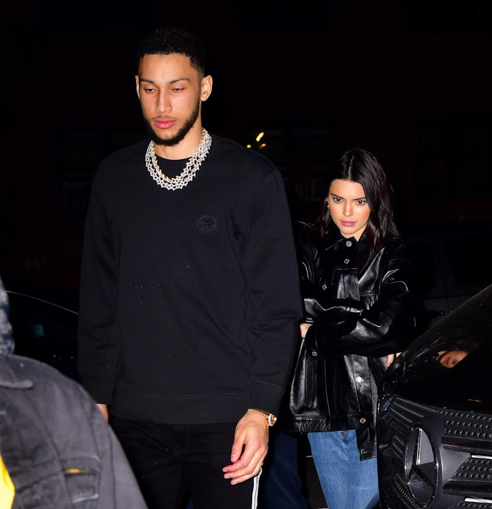 Kendall Jenner and Ben Simmons in the street