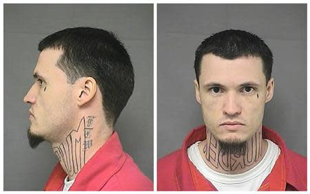 A combination photo shows Kansas Department of Corrections photos of Jeffery Chapman from February 2010. REUTERS/Kansas Department of Corrections/Handout via Reuters