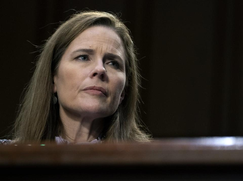 """<span class=""""caption"""">The Supreme Court will soon add another originalist to its ranks if Judge Amy Coney Barrett is confirmed.</span> <span class=""""attribution""""><a class=""""link rapid-noclick-resp"""" href=""""https://www.gettyimages.com/detail/news-photo/supreme-court-nominee-amy-coney-barrett-testifies-in-front-news-photo/1229076242?adppopup=true"""" rel=""""nofollow noopener"""" target=""""_blank"""" data-ylk=""""slk:Stefani Reynolds/Getty Images"""">Stefani Reynolds/Getty Images</a></span>"""