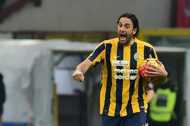 Luca Toni, pictured on December 13, 2015, claimed he was misinformed by his consultants about the German religious tax (AFP Photo/Giuseppe Cacace)