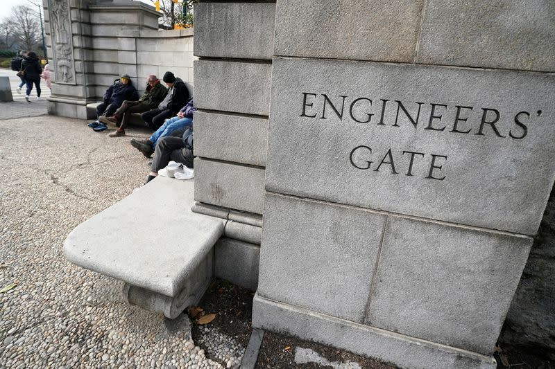 The Engineers' Gate at Central Park is pictured in the Manhattan borough of New York City
