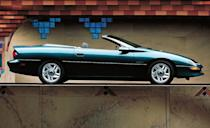 <p>The convertible model returned for the 1994 model year. In 1995, GM's 3800 3.8-liter V-6 joined the 3400 3.4-liter V-6, giving Camaro buyers their first choice of V-6 powerplants. The 200-hp 3800 was vastly more refined than the 160-hp 3400 and would replace the 3400 entirely by 1996. Meanwhile, output of the LT1 V-8 rose to 285 horsepower in '96. And beyond that, SLP Engineering brought back an SS model of the Z28 that tweaked the engine to 305 horsepower and fitted 17-inch wheels for the first time.</p>
