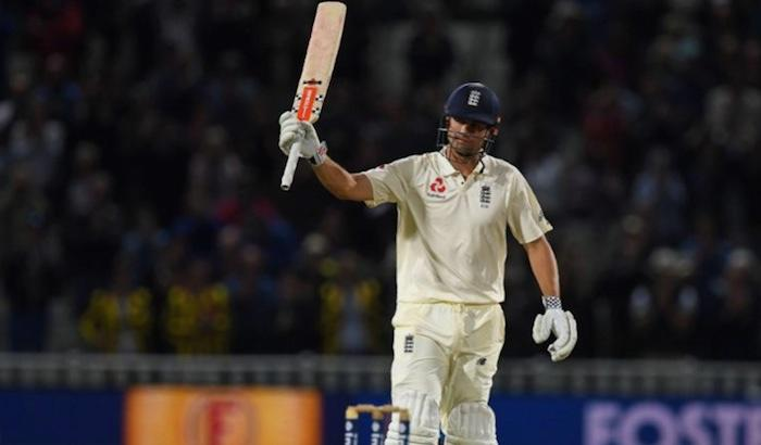 <p>August 18 (CRICKETNMORE) - England finished first day at 348/3 against West Indies in the first Test at Edgbaston. Alastair Cook and Joe Root marked Englands first ever day-night Test with centuries. It was 31st century for Cook and 13th for Joe Root.</p>