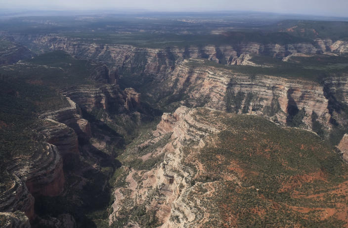 An aerial view of Arch Canyon within Bears Ears National Monument in Utah. (Photo: Francisco Kjolseth/The Salt Lake Tribune via AP)