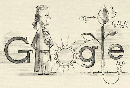 Google celebrates Mr Ingenhousz's life with a doodle (Google)