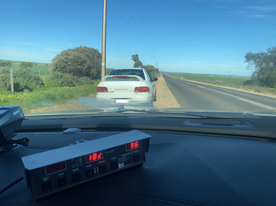 A police photo of the elderly man's car. Source: SA Police
