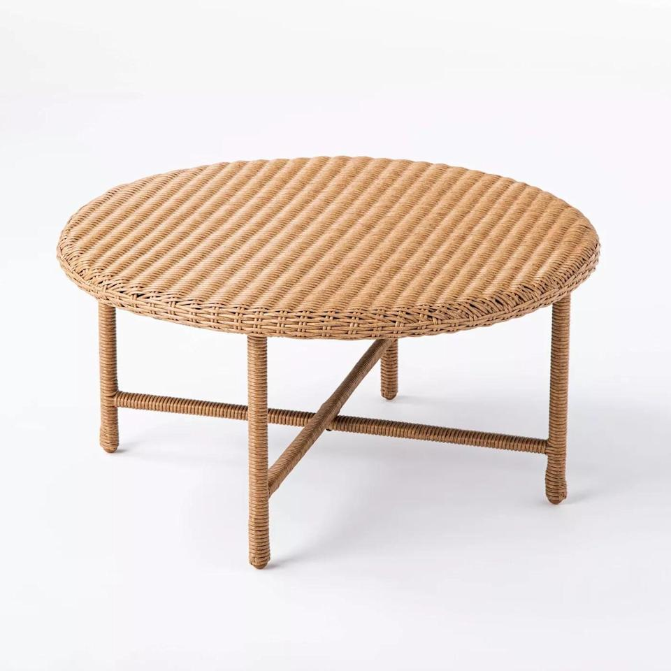 <p>You'll never have to worry about rust with the <span>Wicker Patio Coffee Table</span> ($150). </p>
