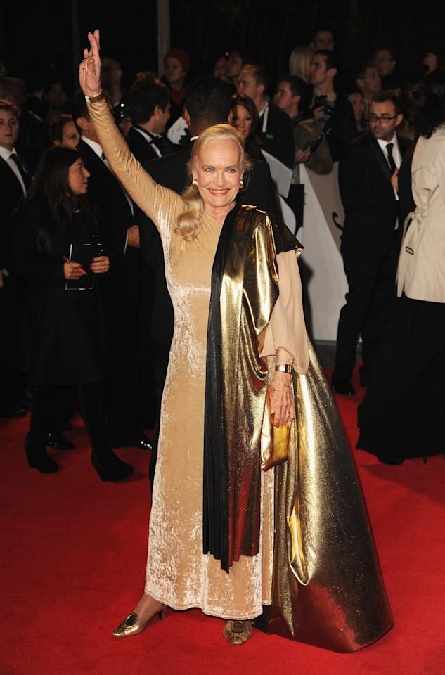 LONDON, ENGLAND - OCTOBER 23:  Shirley Eaton  attends the Royal World Premiere of 'Skyfall' at the Royal Albert Hall on October 23, 2012 in London, England.  (Photo by Eamonn McCormack/Getty Images)