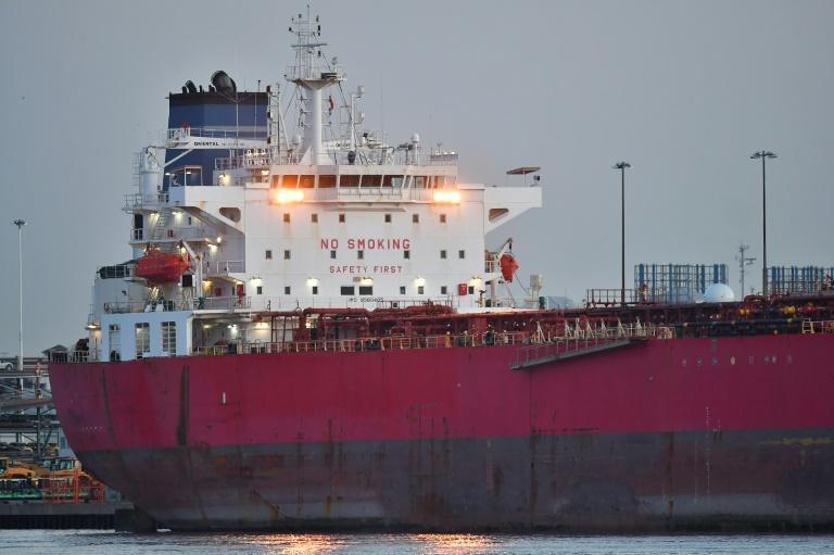 The Nave Andromeda is in dock in Southampton after the dramatic suspected hijacking on Sunday