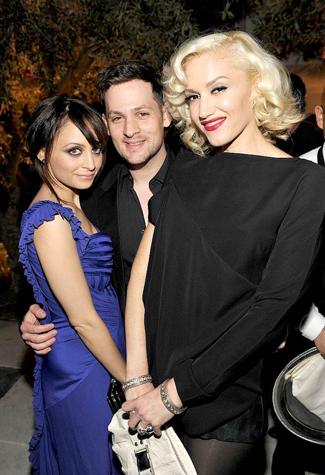 "Cute couple Nicole Richie and Joel Madden had a blast catching up with Gwen Stefani at the Montblanc Charity Cocktail Party to benefit UNICEF on Saturday. The event, hosted by the the Weinstein Company, was held at Soho House in West Hollywood. John Shearer/<a href=""http://www.wireimage.com"" target=""new"">WireImage.com</a> - March 6, 2010"