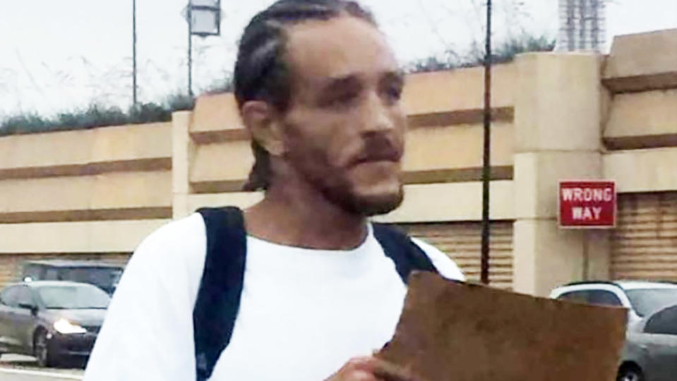 Delonte West, pictured here homeless and begging on the street.