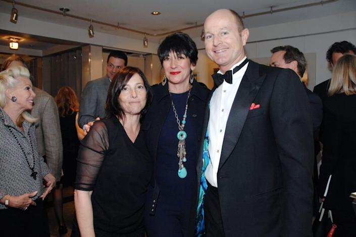 """<div class=""""inline-image__caption""""> <p>Christina Oxenberg, Ghislaine Maxwell and HRH Prince Dimitri of Yugoslavia attend Christina Oxenberg's """"Life is Short: Read Short Stories"""" Book Signing Party at Vanessa Noel on April 23, 2013 in New York City. </p> </div> <div class=""""inline-image__credit""""> Mireya Acierto/Patrick McMullan via Getty </div>"""