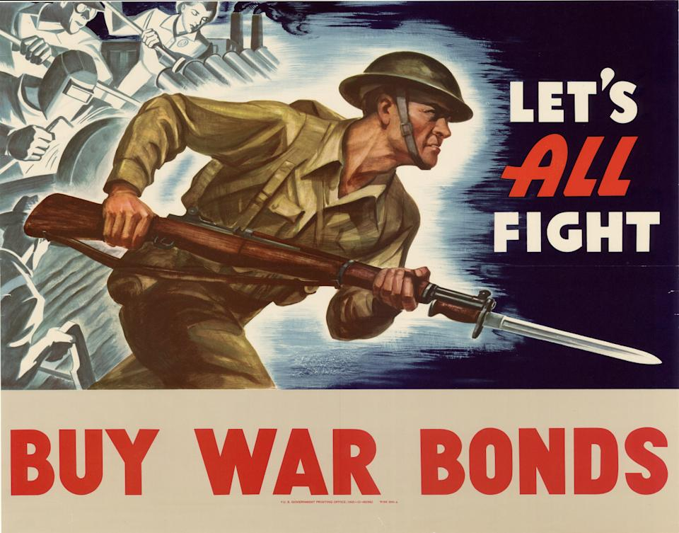 1942 War Bonds poster. Credit: Department of the Treasury, UNT Libraries Government Documents Department.